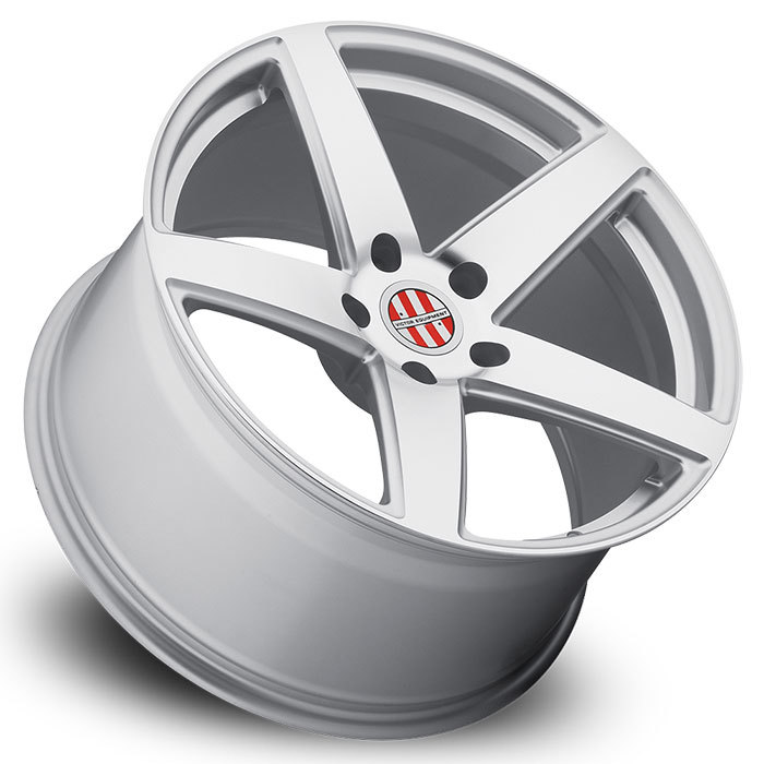 Victor Equipment Baden Silver with Mirror Cut Face Porsche Wheels - Lay