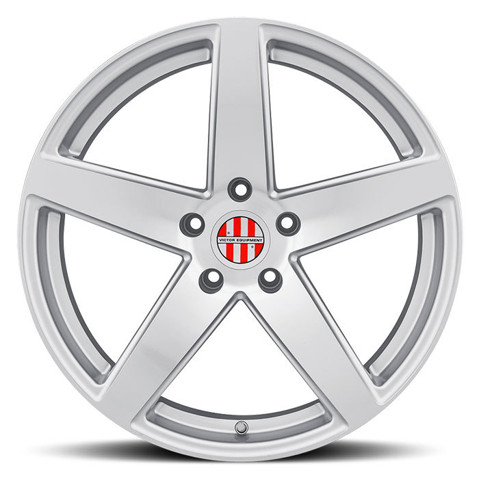Victor Equipment Baden Silver with Mirror Cut Face Porsche Wheels - Face