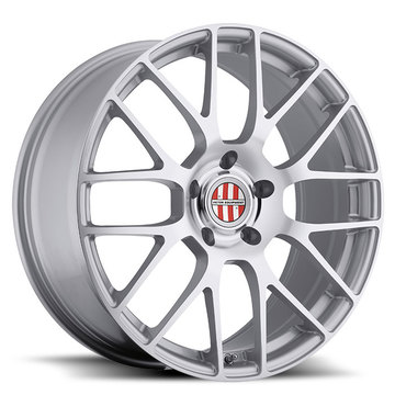 Victor Equipment Innsbruck Silver with Mirror Cut Face and Chrome Lip Porsche Wheels - Standard