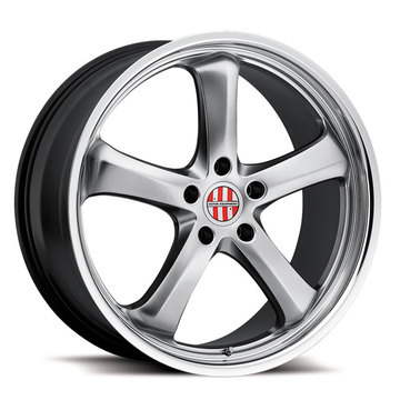 Victor Equipment Turismo Hyper Silver with Mirror Cut Lip Porsche Wheels - Standard
