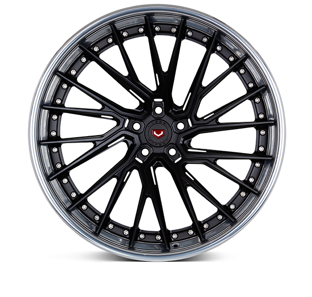 Vossen EVO-6TR 3-Piece Wheels Custom Satin Black Finish
