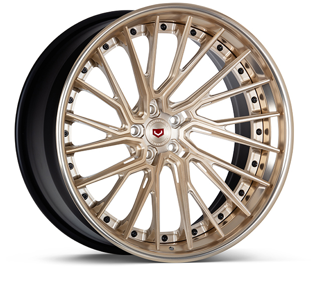 Vossen EVO-6TR 3-Piece Wheels Custom Patina Gold Finish
