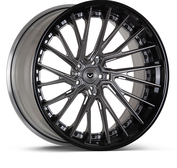 Vossen EVO-6TR 3-Piece Wheels Custom Dark Smoke Finish