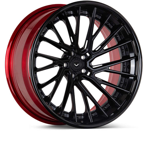 Vossen EVO-6TR 3-Piece Wheels Custom Vossen Red Finish