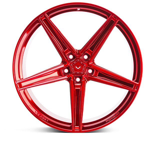 Vossen M-X5 Wheels Custom Vossen Red Finish