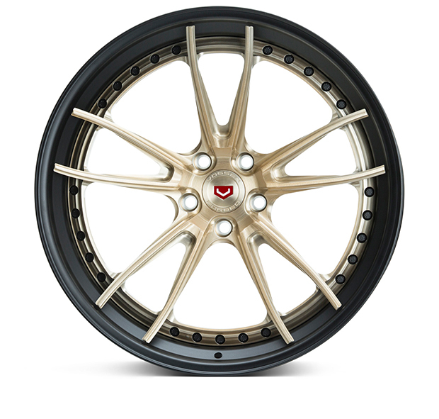 Vossen S17-06 3-Piece Wheels Custom Patina Gold Finish