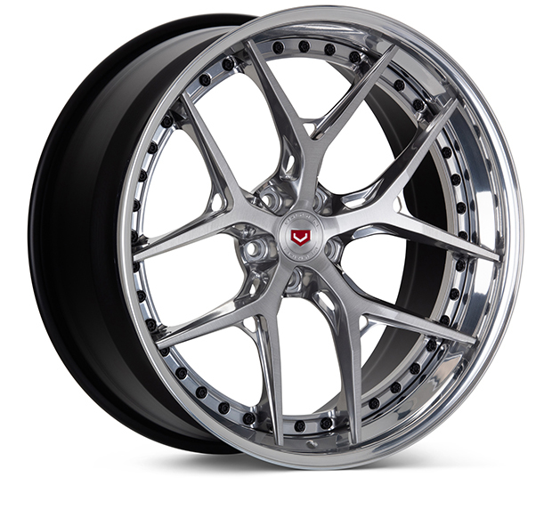 Vossen S21-01 3-Piece Wheels Custom Brushed Gloss Clear Finish