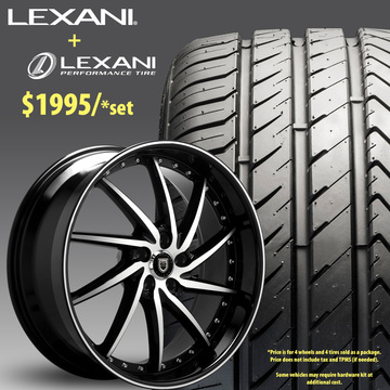 22in Lexani Artemis Wheel Package - $1,995