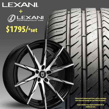 22in Lexani CSS15 Wheel Package - $1,795
