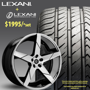 22in Lexani Invictus Wheel Package - $1,995