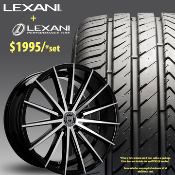 22in Lexani Pegasus Wheel Package - $1,995