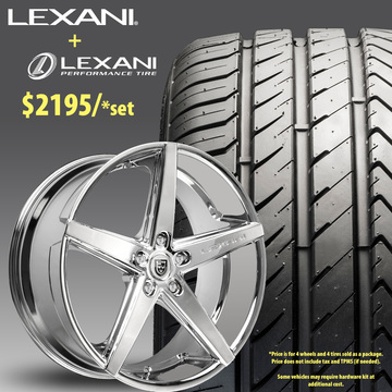 22in Lexani R-Four Wheel Package - $2,195