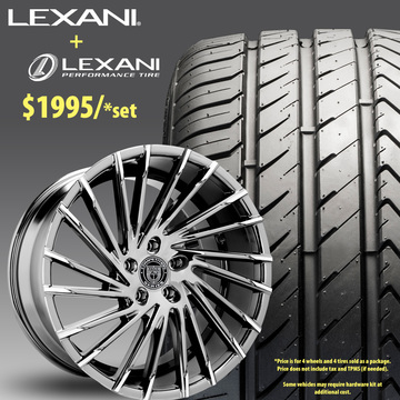 22in Lexani Wraith Wheel Package - $1,995