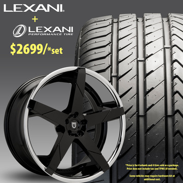 24in Lexani Invictus Wheel Package - $2,699