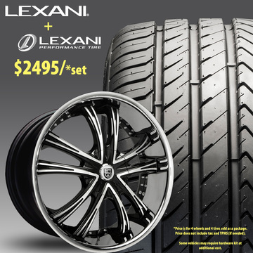 24in Lexani LSS55 Wheel Package - $2,495
