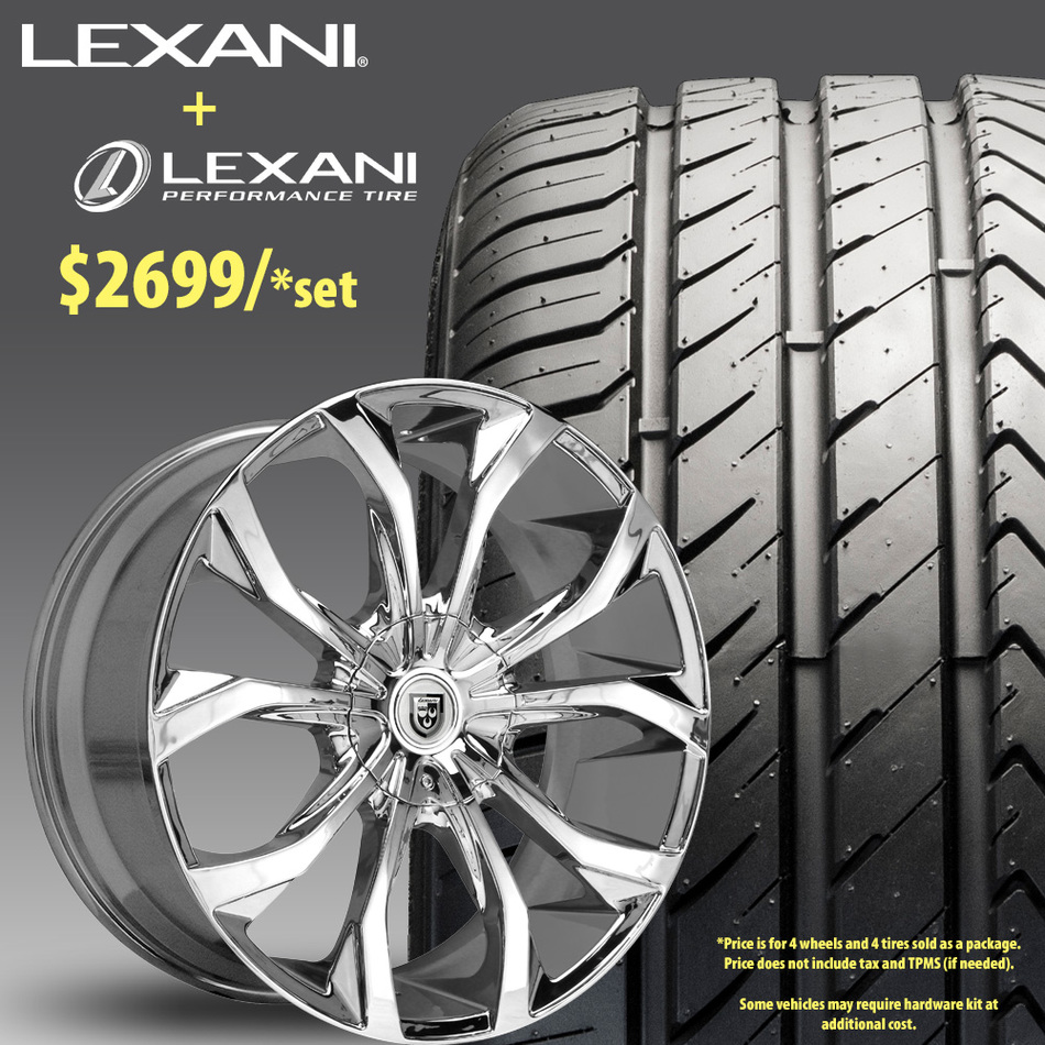24in Lexani Lust Wheel Package - $2,699