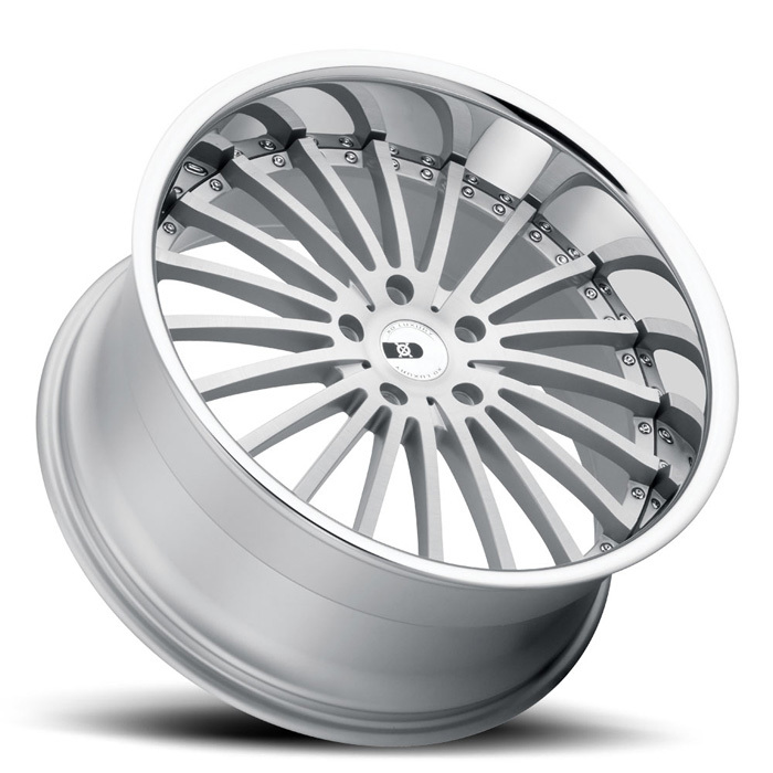 XO Luxury New York Silver with Brushed Face and SS Lip Wheels