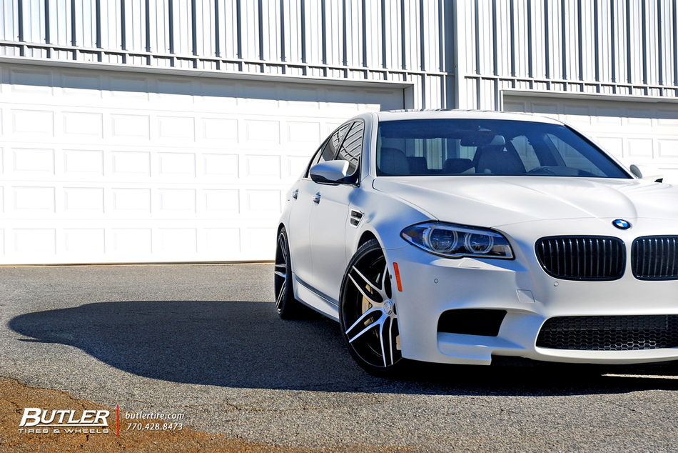 Frozen White Bmw M5 Lexani Wheels 1