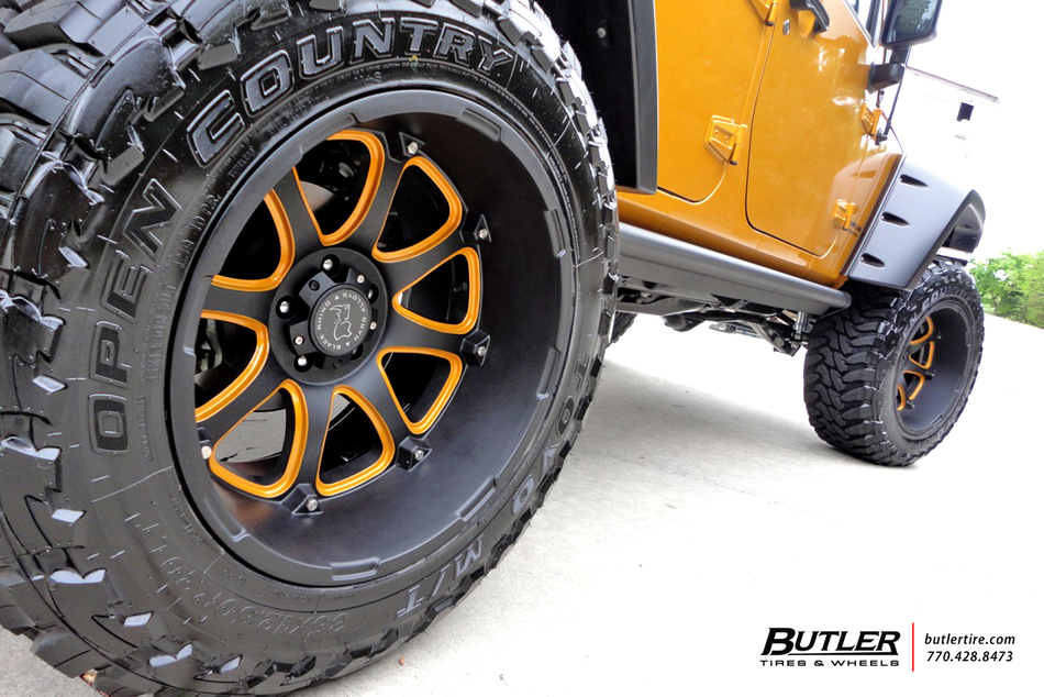 Jeep Wrangler Rims And Tire Packages >> Custom Black and Orange Jeep Rubicon on Black Rhino Glamis ...