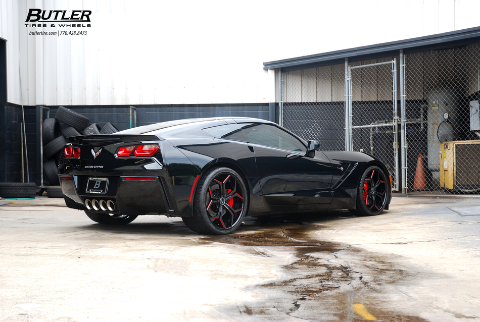 C7 Chevy Corvette Stingray With 20 21in Custom Carbon