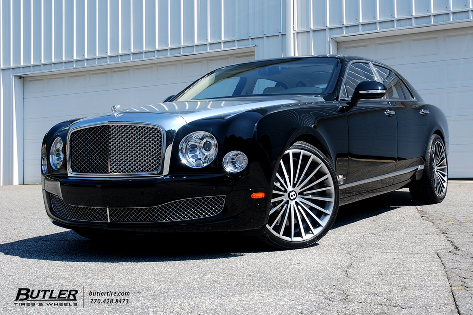 Bentley Mulsanne With 22in Lexani Lf Forged Lf 722 Wheels