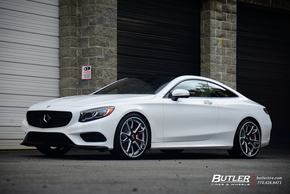 2015 mercedes s550 coupe on 22in custom forgiato f219 wheels