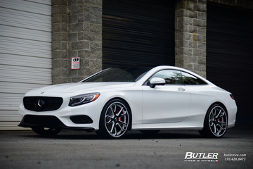 2015 Mercedes S550 Coupe on 22in Custom Forgiato F2.19 Wheels