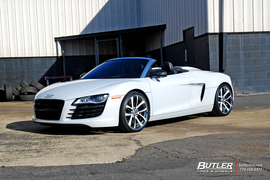 Audi R8 Spyder With Custom 20in Asanti Cx503 Wheels