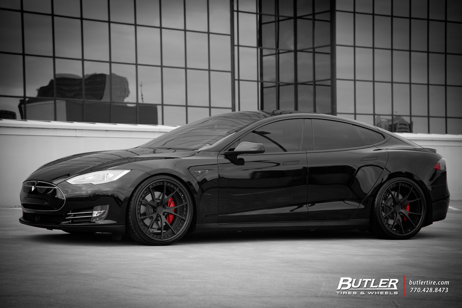 tesla model s p85d with 22in niche stuttgart wheels trending at butler tires and wheels in. Black Bedroom Furniture Sets. Home Design Ideas