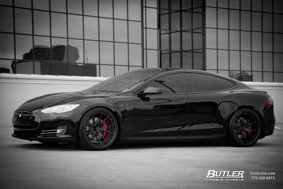 Tesla Model S P85D with 22in Niche Stuttgart Wheels - Trending at Butler Tires and Wheels in ...