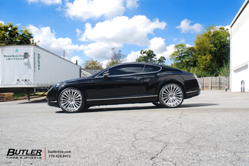 Bentley Continental GT with 22in Lexani LF Forged LZ-722 Wheels