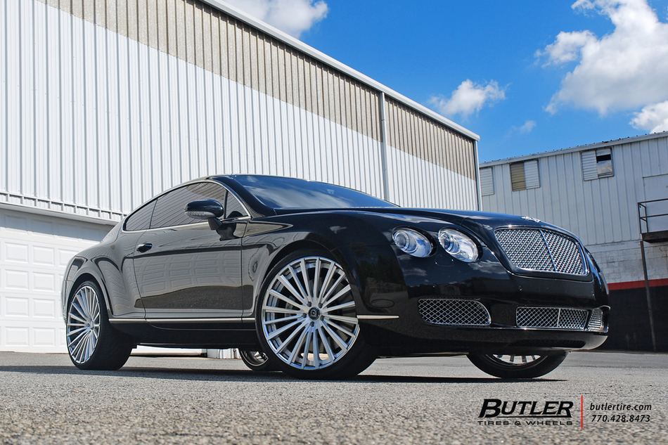 Bentley Gt With 22in Lexani Lz722 Wheels And Vredestein Tires 8