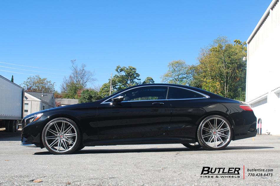 Mercedes s550 coupe on custom vossen vps 307 forged wheels for Custom mercedes benz s550