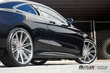 Mercedes S550 Coupe on Custom Vossen VPS-307 Forged Wheels