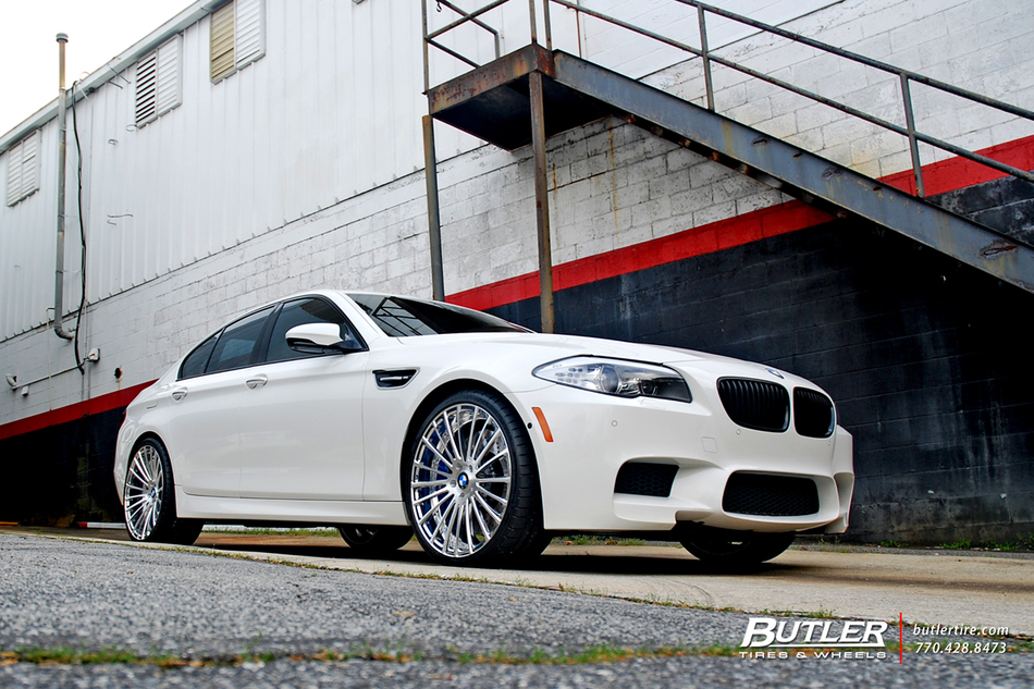 Bmw M5 On 21in Savini Sv61d Wheels And Michelin Super Sport Tires 6