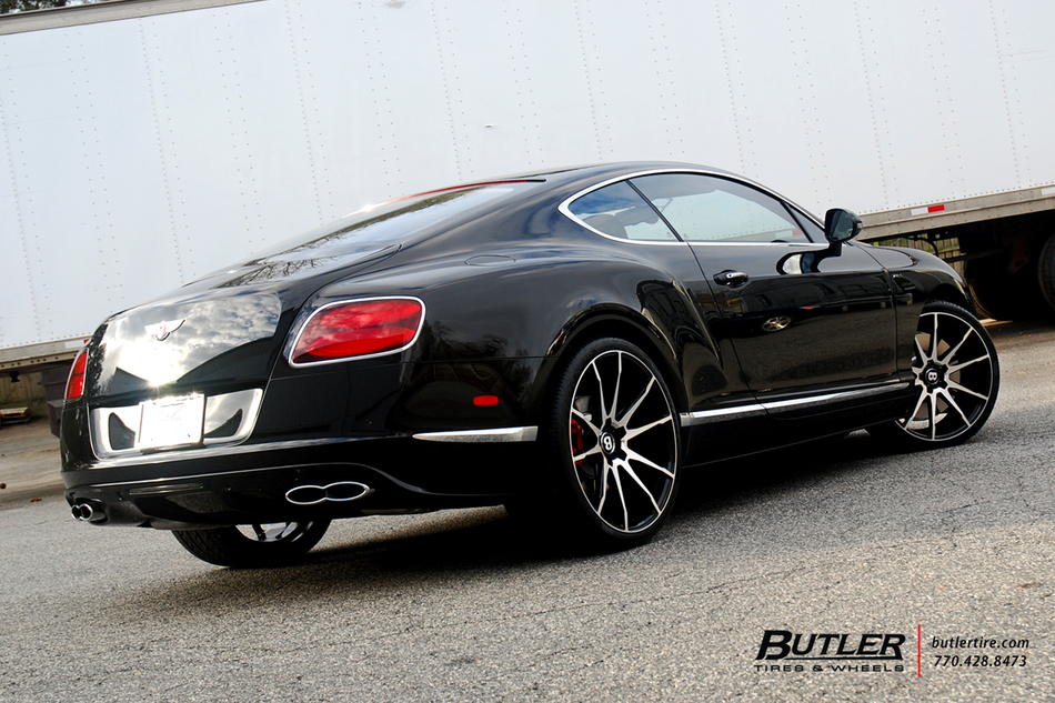 Bentley Gt V8 S With 22in Savini Bm12 Wheels And Pirelli Tires Bt 9