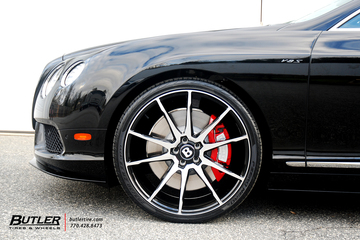 Bentley GT V8 S on 22in Savini BM12 Wheels