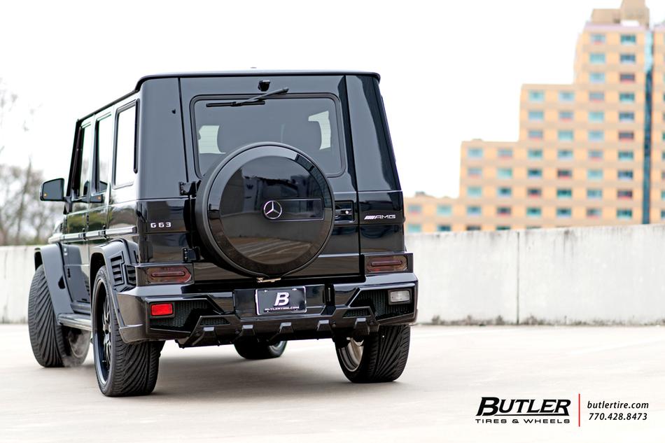Wald Black Bison Mercedes G63 Wagon on 24in Savini SV39 Wheels