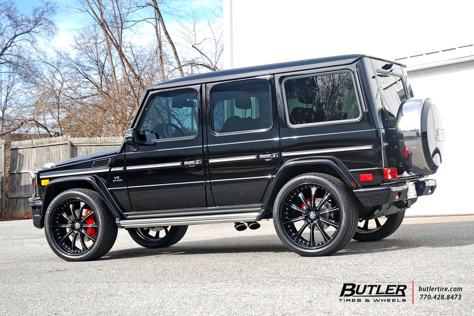 mercedes g63 amg wagon on custom 24in lexani lf707 wheels