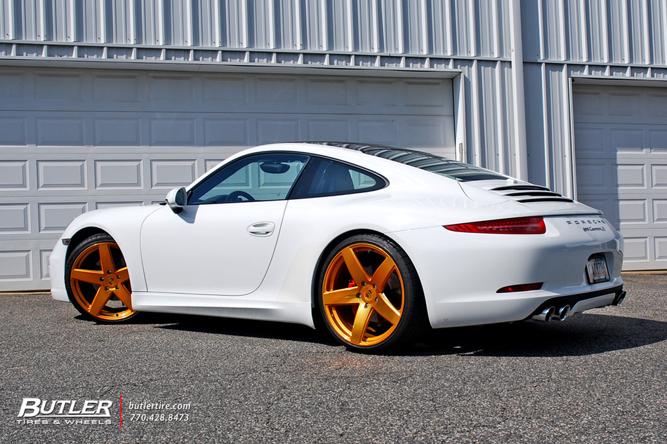 Porsche 911 Carrera S With Custom Gold 21in Victor Baden