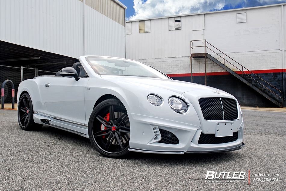 Wald Black Bison Bentley Gtc V8 S On 22in Savini Sv58c Wheels 24