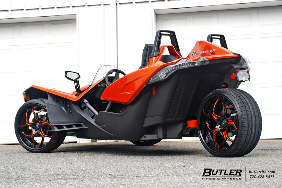 Polaris Slingshot On Custom 22in Savini Sv53 Wheels