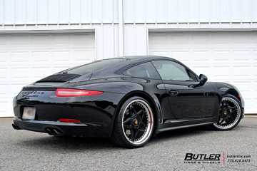 Porsche 911 Carrera GTS on custom 21in Center Lock Avant Garde F132 Wheels