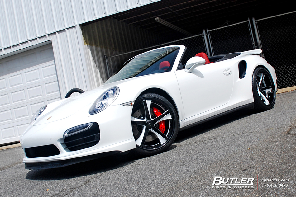 Porsche 911 Turbo Cab With 21in Savini Sv29 Wheels And Pirelli Tires 22