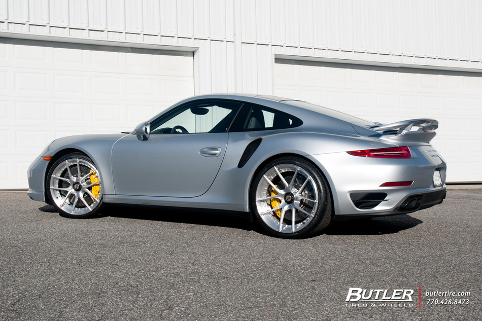 Porsche 911 Turbo S On Custom 21in Center Lock Niche Targa