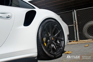 Porsche 991 911 Turbo S on 20in HRE P101 Wheels