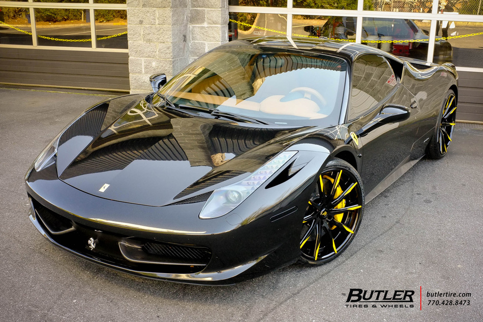 Ferrari 458 Italia With 21in Front And 22in Rear Lexani Forged Lz101 Wheels Anf Pirelli Nero Tires 1
