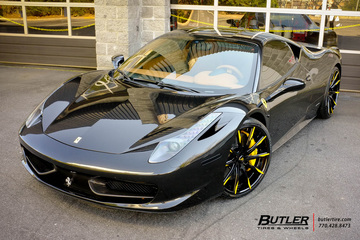 Ferrari 458 Italia with custom 22in Lexani LF Forged LZ-101 Wheels