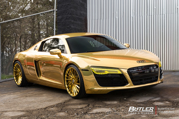 Atlanta Hawks Dennis Schröder goes all Gold with his Audi R8 on Savini SV64 Wheels