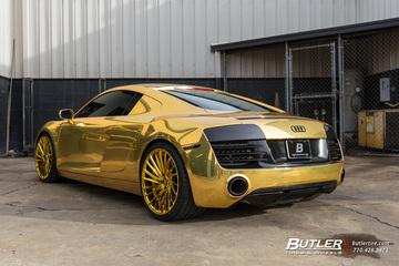 Atlanta Hawks Dennis Schr 246 Der Goes All Gold With His Audi R8 On Savini Sv64 Wheels Trending At Butler Tires And Wheels In Atlanta Ga